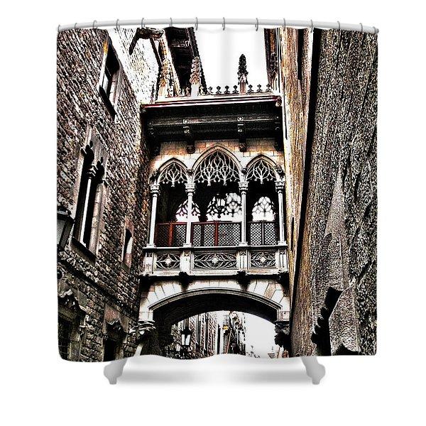 Bishop's Street - Barcelona Shower Curtain