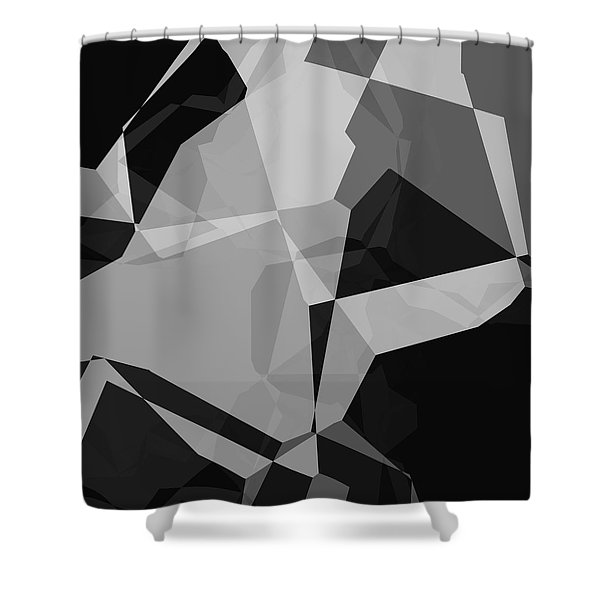 Black And Grey Abstract Shower Curtain