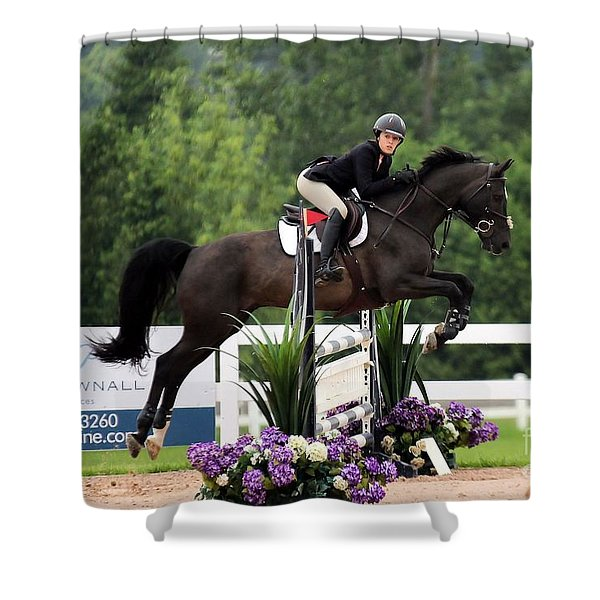 Black And Purple Shower Curtain