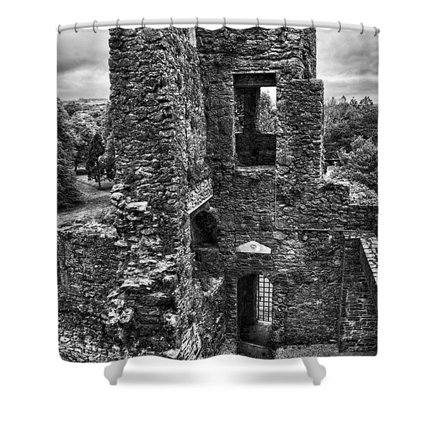 Black And White Castle Shower Curtain