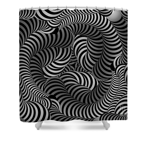 Black And White Illusion Shower Curtain