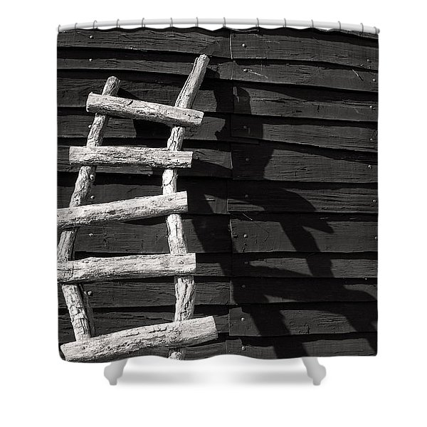 Black And White Ladder Shower Curtain