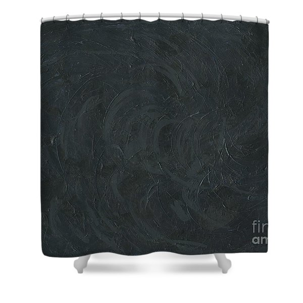 Black Color Of Energy Shower Curtain