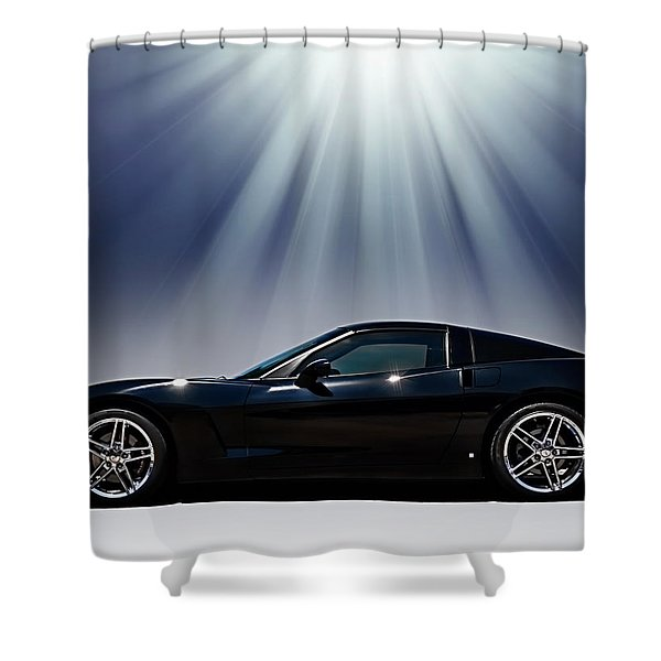 Black Corvette Shower Curtain