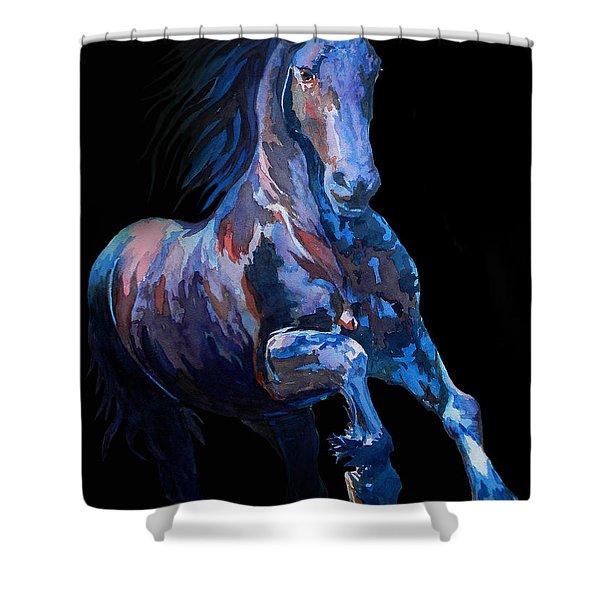 F   I   R   E      B   L   U   E      Shower Curtain