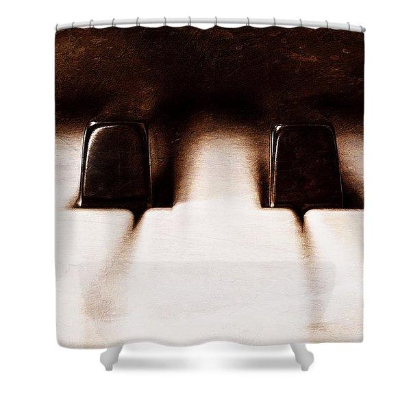 Black Keys D Flat And E Flat  Shower Curtain