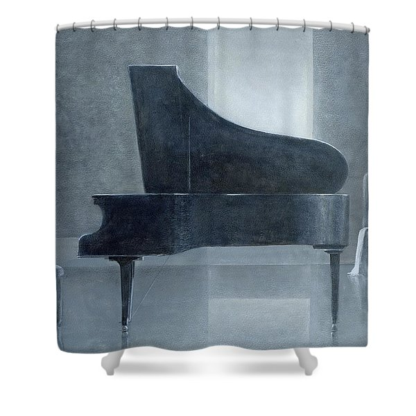 Black Piano 2004 Shower Curtain