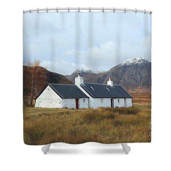 Black Rock Cottage Shower Curtain