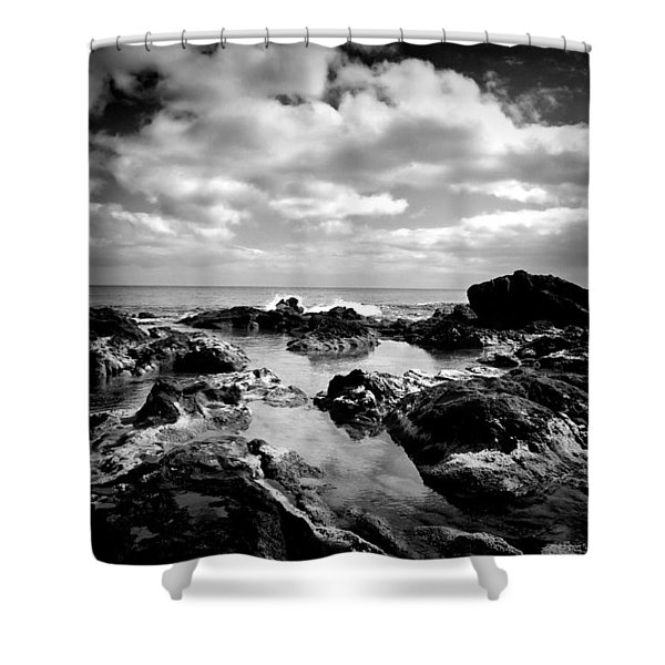 Black Rocks 1 Shower Curtain