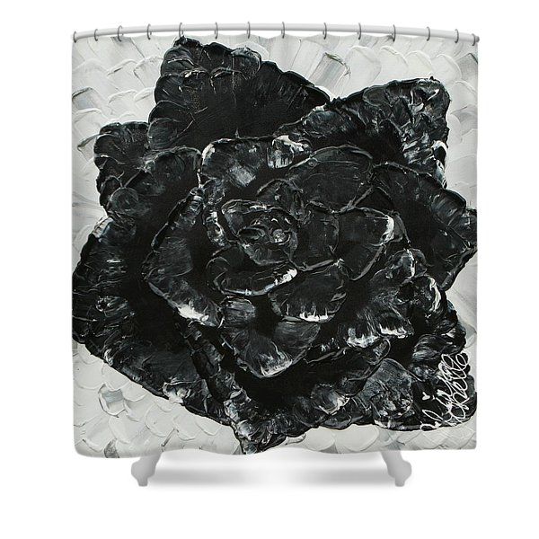 Black Rose I Shower Curtain