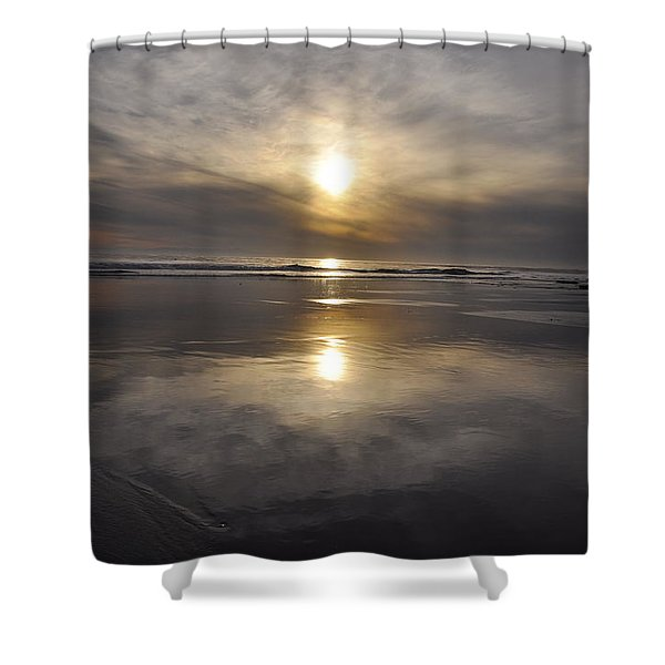 Black Sunset Shower Curtain