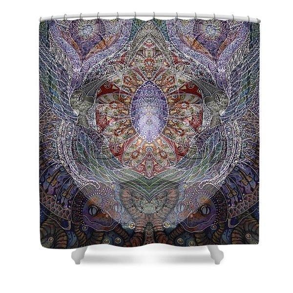Black Venice Shower Curtain