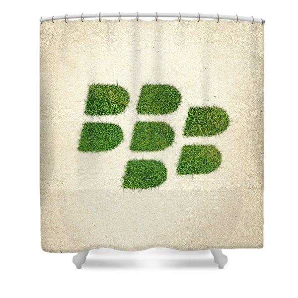 Blackberry Grass Logo Shower Curtain