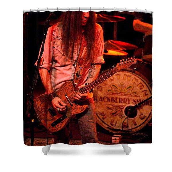 Blackberry Smoke Guitarist Charlie Starr Shower Curtain