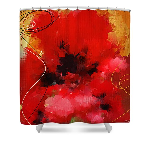 Blazingly Poppies Shower Curtain