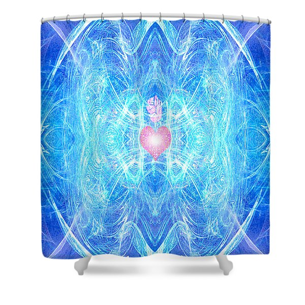 Blessed Mother Mary Shower Curtain