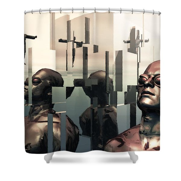 Blind Reflections Shower Curtain