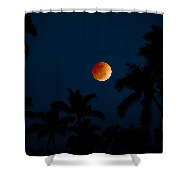 Blood Moon In The Tropics Shower Curtain
