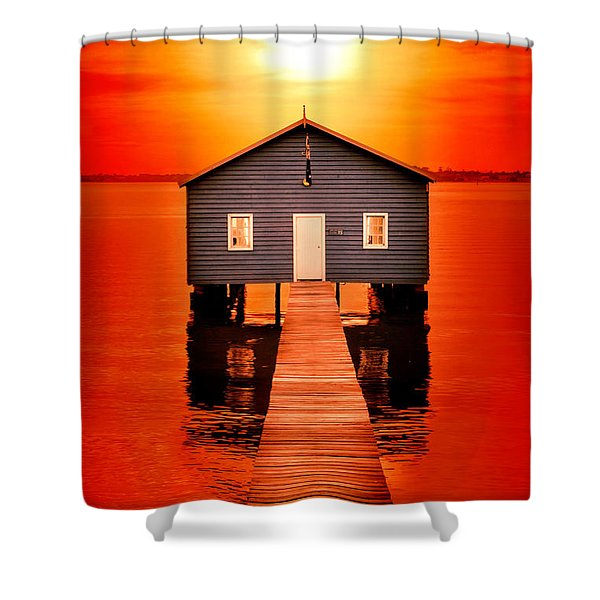 Blood Sunset Shower Curtain