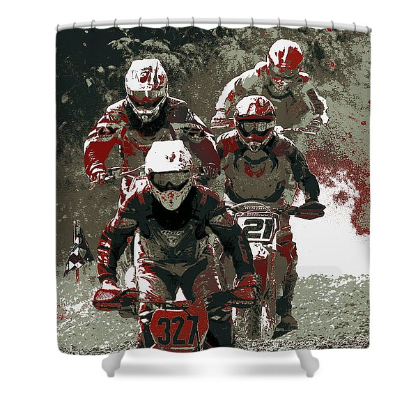 Blood Sweat And Dirt Shower Curtain