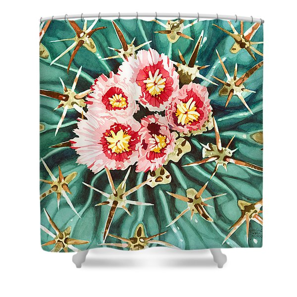 Bloomin' Horse Crippler Cactus Shower Curtain