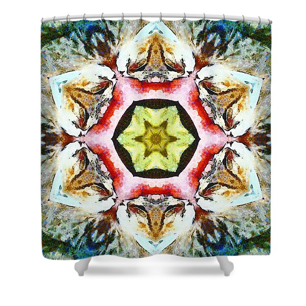 Blooming Fibonacci Shower Curtain
