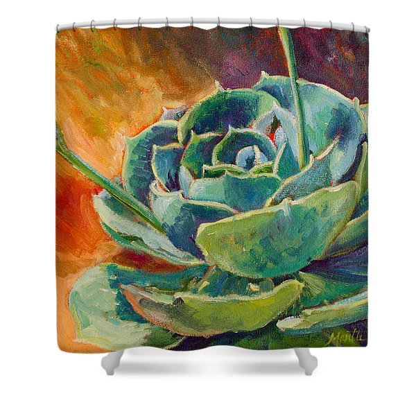 Blooming Hen Shower Curtain