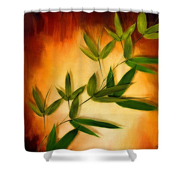 Blooming Leaves Shower Curtain