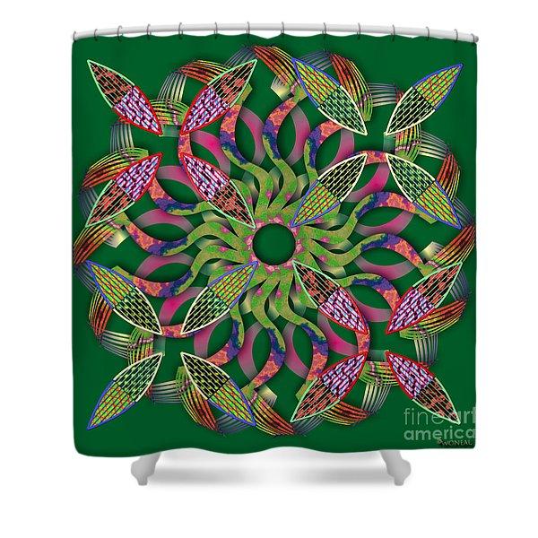 Blooming Mandala 3 Shower Curtain