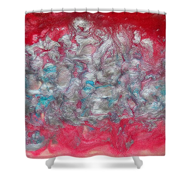 Blossom Abstract Shower Curtain