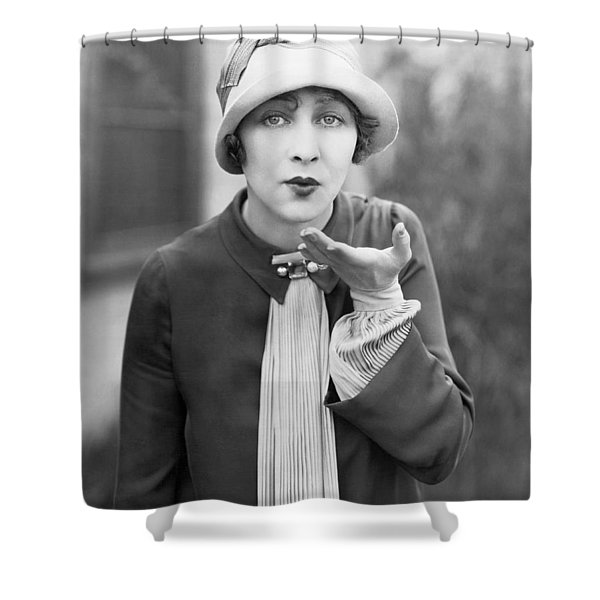 Blowing A Kiss Shower Curtain