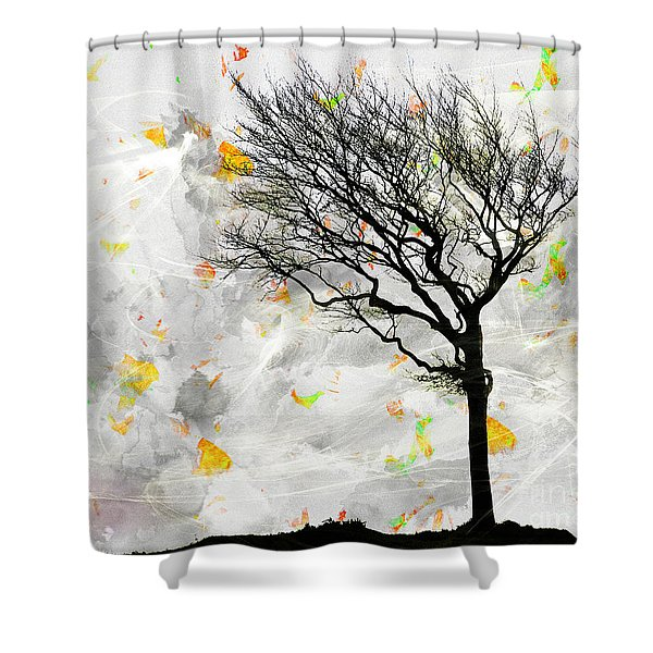 Blowing It The Wind Shower Curtain