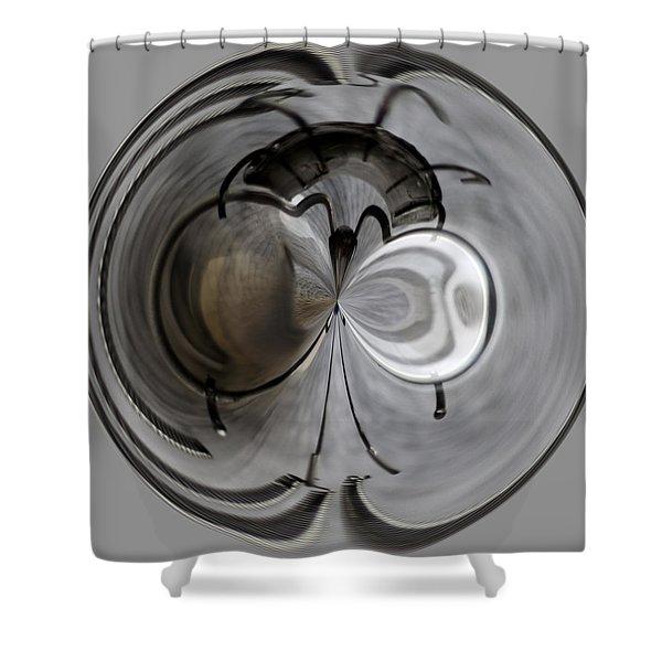 Blown Out Filament Shower Curtain
