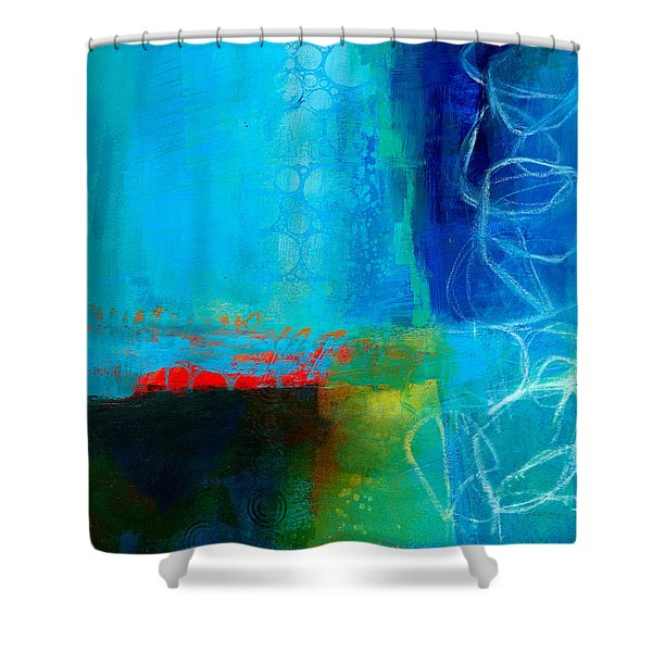 Blue #2 Shower Curtain