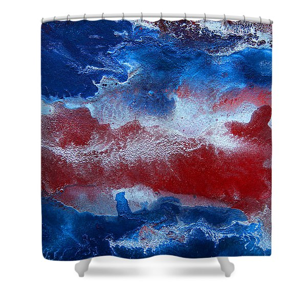 Blue Abstract Shower Curtain