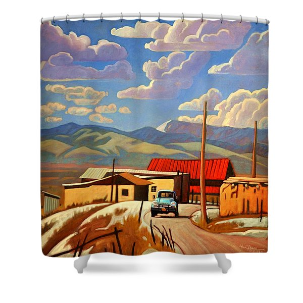 Blue Apache Shower Curtain
