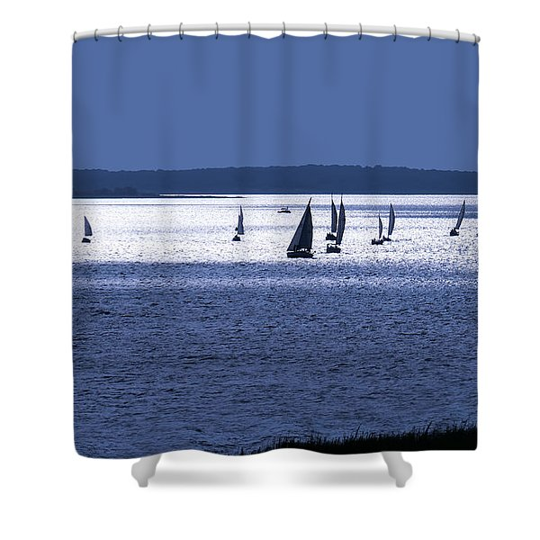 The Blue Armada Shower Curtain