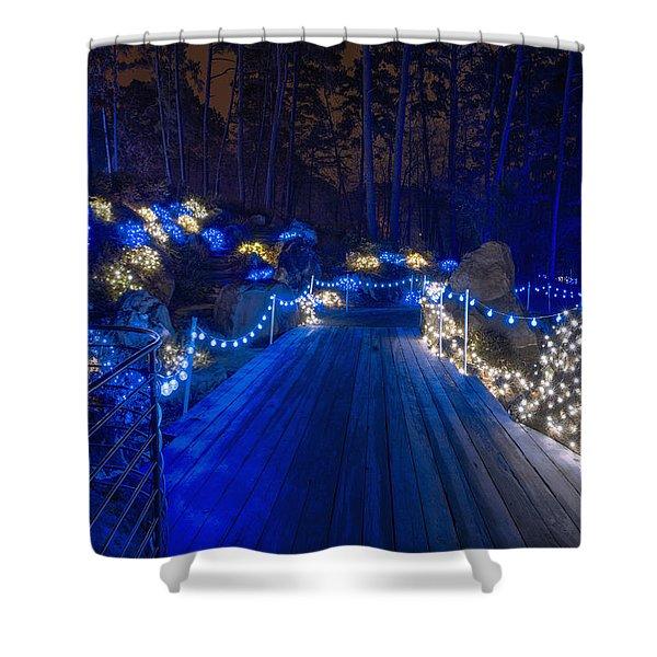 Plank Bridge Shower Curtain