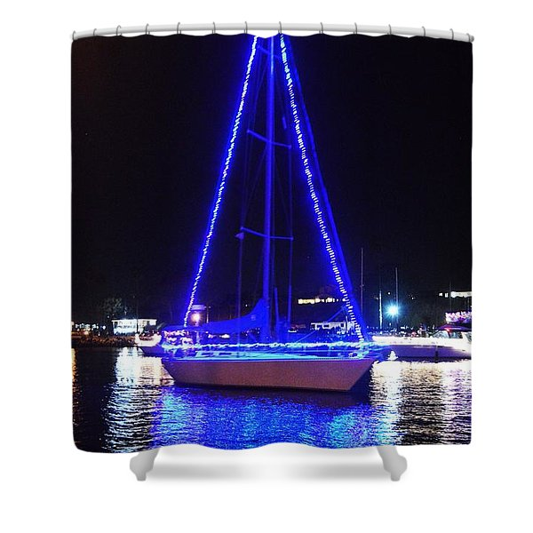 Shower Curtain featuring the photograph Blue Christmas  by Laurie Lundquist