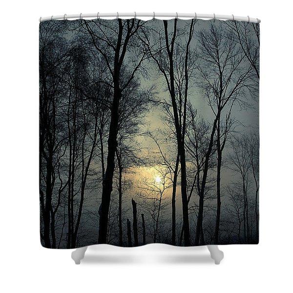 Blue Daybreak Shower Curtain