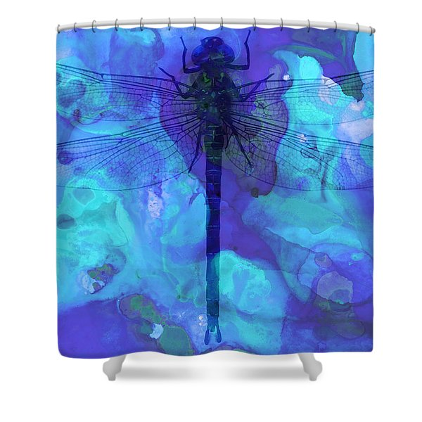 Blue Dragonfly By Sharon Cummings Shower Curtain
