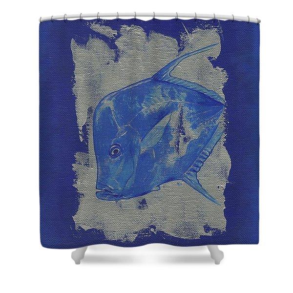 Blue Fish Shower Curtain