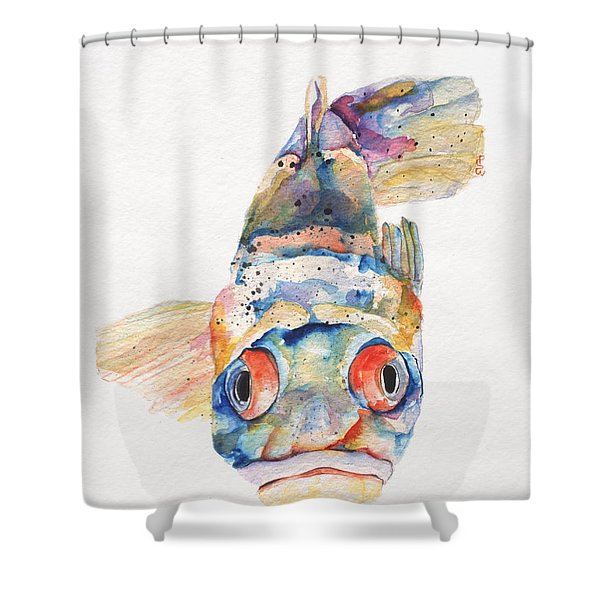Blue Fish   Shower Curtain