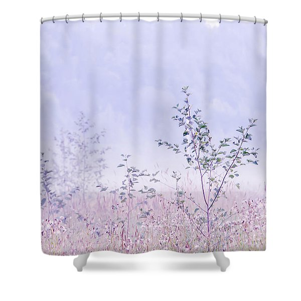 Blue Fog Shower Curtain