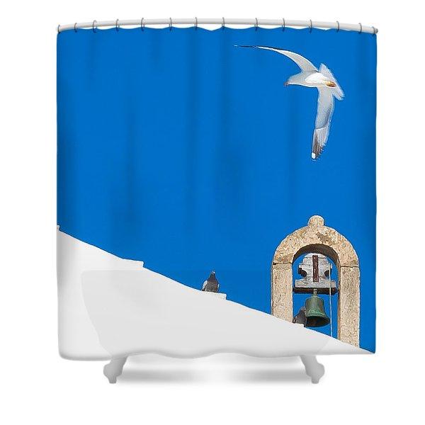 Blue Gull Shower Curtain