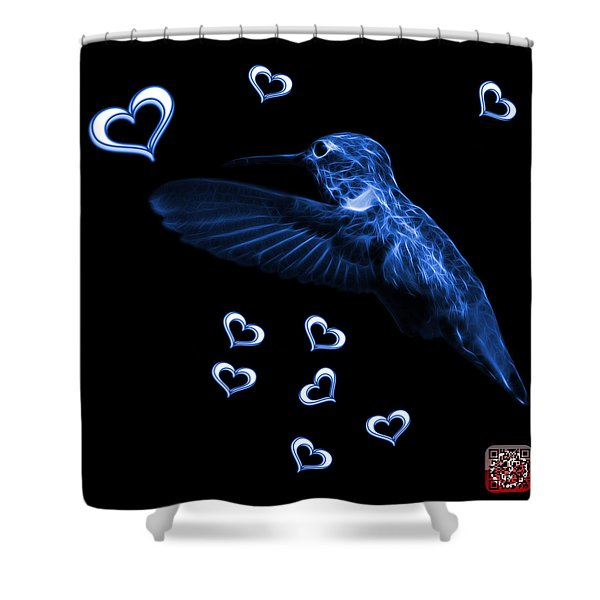 Blue Hummingbird - 2055 F M Shower Curtain