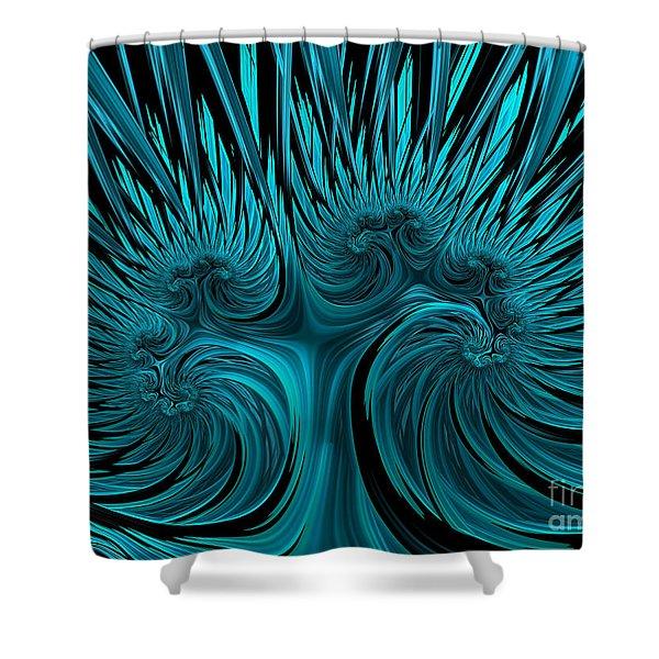Blue Hydra Shower Curtain