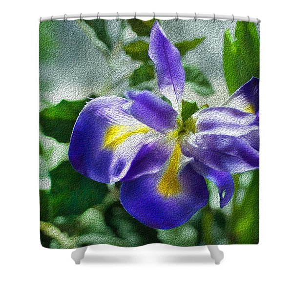 Blue Iris Shower Curtain
