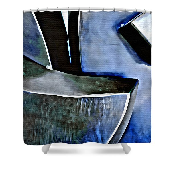 Blue Iron Shower Curtain