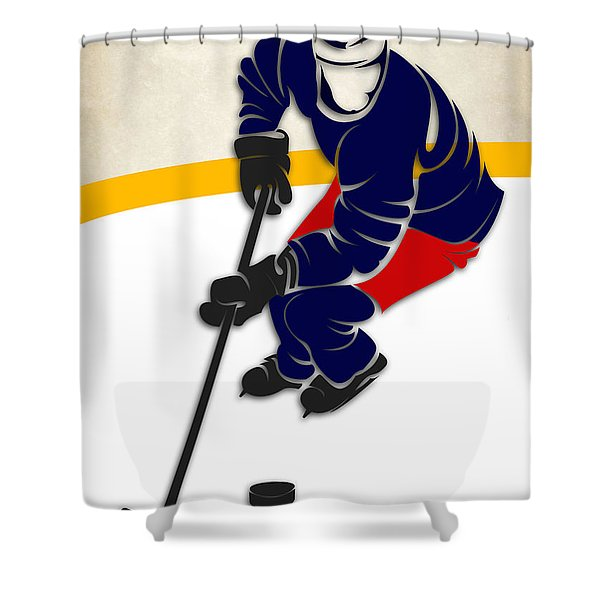 Blue Jackets Hockey Rink Shower Curtain
